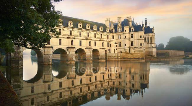Castle of Chateau de Chenonceau at Loire Valley, Chenonceaux, Indre-et-Loire Departement, France, Europe. — Stock Photo