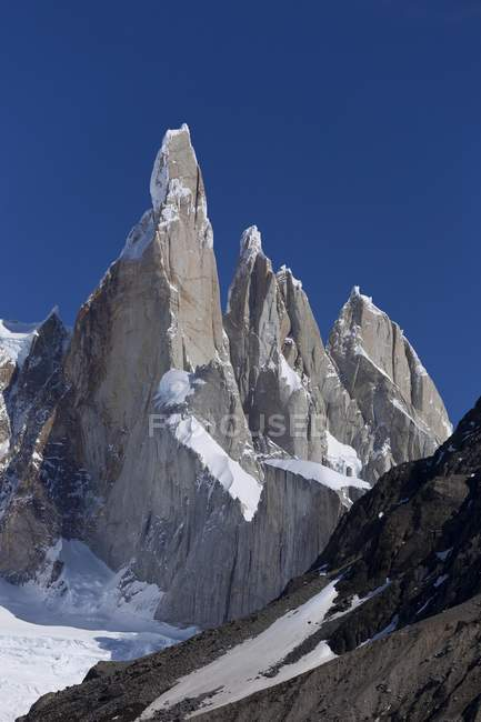 Cerro Torre mountain in Los Glaciares National Park, Patagonia, Argentina, South America — Stock Photo