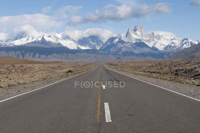 Strada per Monte Fitz Roy, Argentina, Sud America — Foto stock
