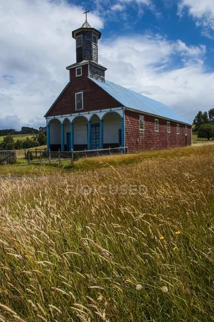 Chiesa in legno di Puchilco, Chiloe, Chile, South America — Foto stock