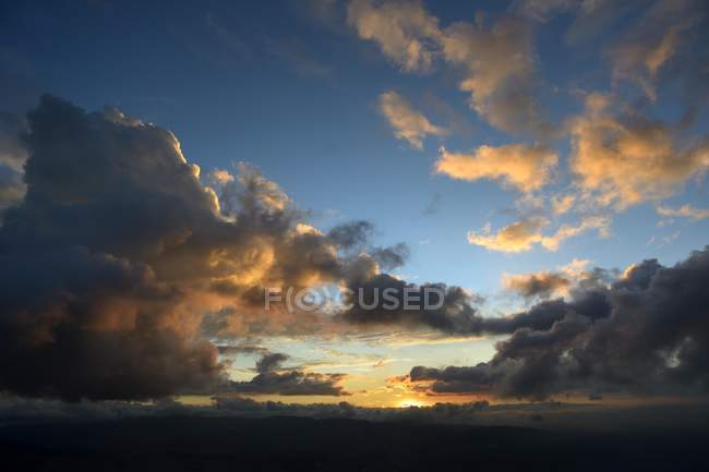 Sunset clouds over Bogota, Colombia, South America — Stock Photo