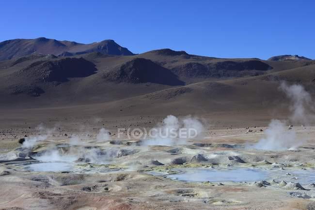 Campo geotérmico Sol de Manana Sur Lipez, Potosi, Bolívia, América do Sul — Fotografia de Stock