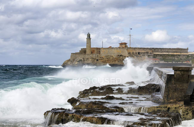 Lighthouse of Morro Castle fortress in Havana, Cuba, Central America — Stock Photo