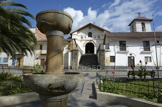 Fountain on street at Carmen Pampa, Yungas, Department of La Paz, Bolivia, South America — Stock Photo
