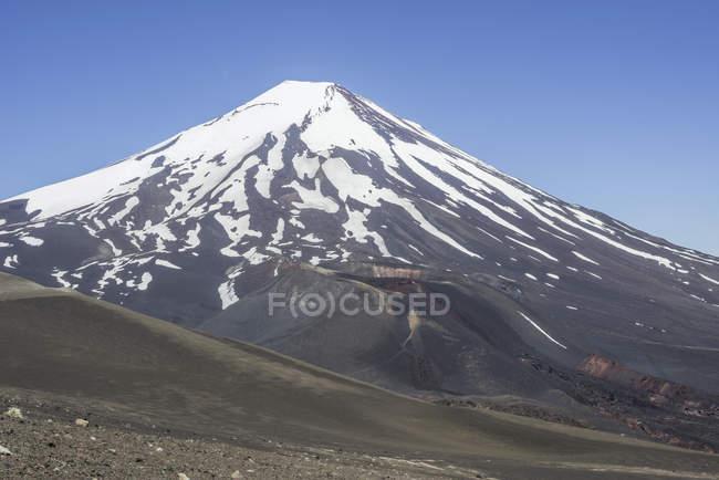 Засніжені Lonquimay вулкан в горах Арауканії регіону, Чилі, Південна Америка — стокове фото