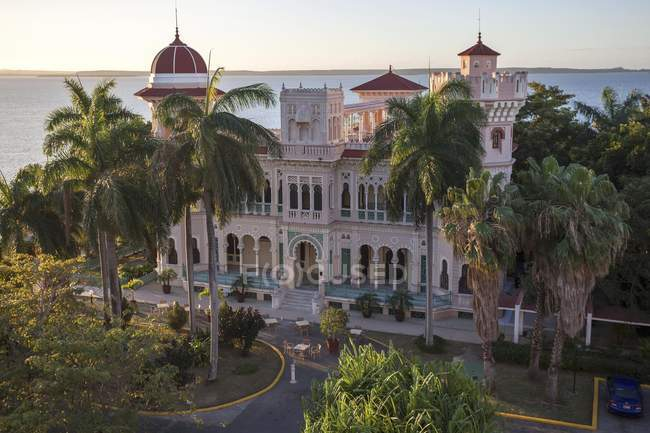 High angle view of building of Palacio del Valle, Punta Gorda, Cienfuegos Province, Cuba — Stock Photo