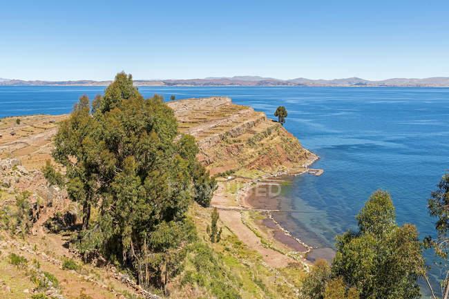 Taquile остров на озере Титикака, Перу, Южная Америка — стоковое фото