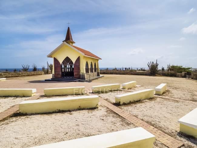 Alto Vista Chapel in Aruba, Antille, Caraibi, America del Nord — Foto stock