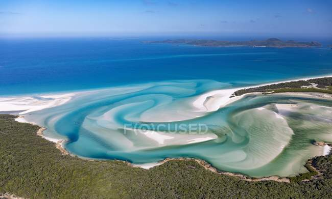 Hill Inlet and turquoise water, Whitsunday Island, Queensland, Australia, Oceania — Stock Photo