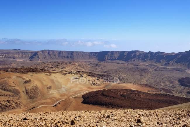Caldera de Las Canadas no Parque Nacional de Teide, Tenerife, Ilhas Canárias, Spain, Europa — Fotografia de Stock