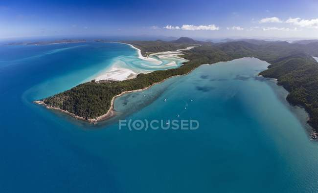 Whitehaven Beach and Hill Inlet river meanders, Whitsunday Islands, Queensland, Australia, Oceania — Stock Photo
