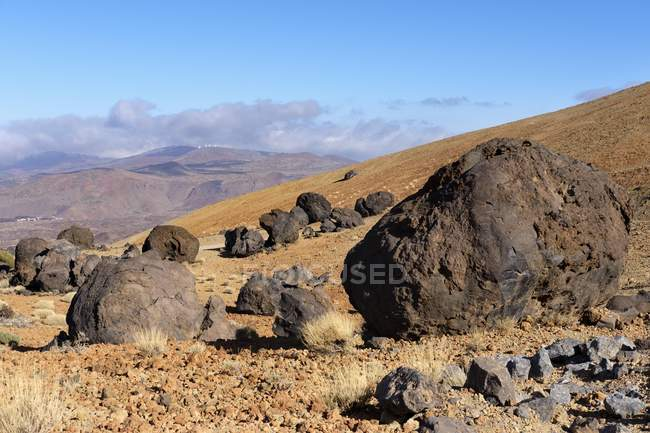 Lava balls Huevos del Teide of Teide National Park, Tenerife, Canary Islands, Spain, Europe — Stock Photo