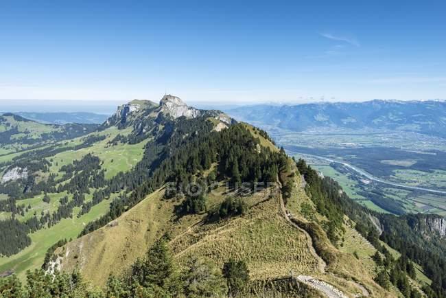 Anzeigen von geologischen Bergweg, Appenzeller Alpen, führt zu Hoher Kasten Berg, Kanton Appenzell Innerrhoden, Schweiz, Europa — Stockfoto