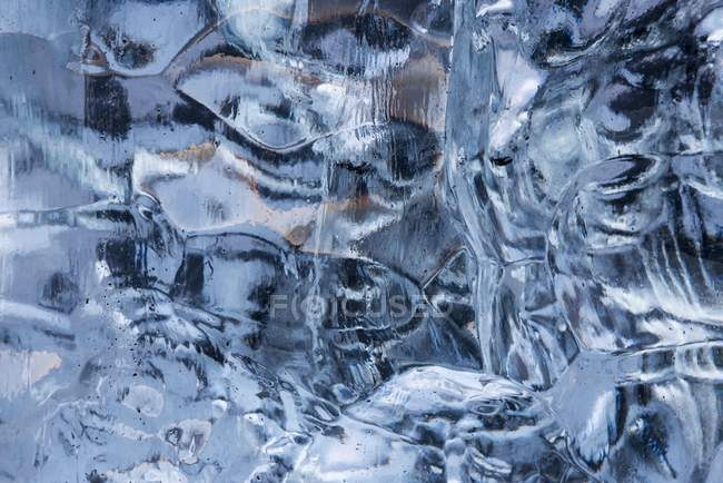 Ice structure of Jokulsarlon Glacier Lagoon, Vatnajokull Glacier, Austurland, East Iceland, Iceland, Europe — Stock Photo
