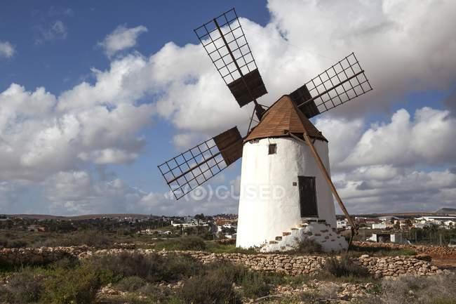 Windmühle in La Corte in Antigua, Fuerteventura, Kanarische Inseln, Spanien, Europa — Stockfoto