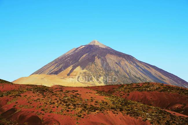 Teide volcano in morning light, Teide National Park, Aguamansa, Tenerife, Canary Islands, Spain, Europe — Stock Photo