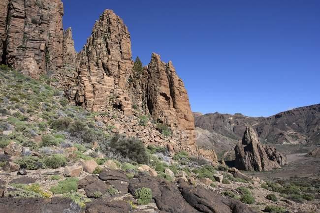 Formation de Roques de Garcia dans le parc national du Teide, site du patrimoine mondial de l'UNESCO, Tenerife, Espagne, Europe — Photo de stock