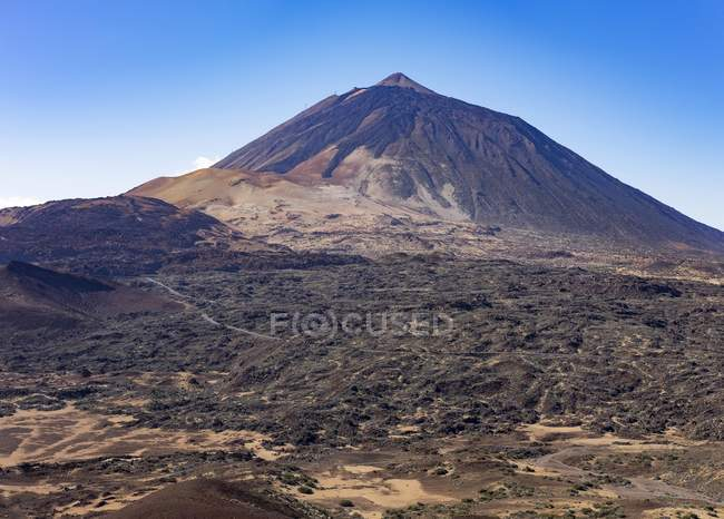 Paysage du volcan Pico del Teide, parc national du Teide, Tenerife, Iles Canaries, Espagne, Europe — Photo de stock