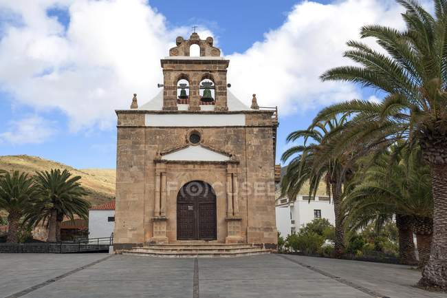 Church Ermita de Nuestra Senora de la Pena, Vega de Rio Palmas, Fuerteventura, Canary Islands, Spain, Europe — стокове фото