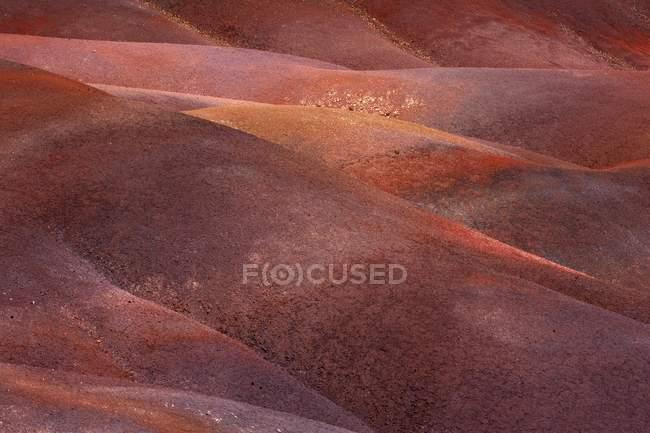 Detail der geologischen Bildung von sieben farbigen Erden von Chamarel, Mauritius, Afrika — Stockfoto