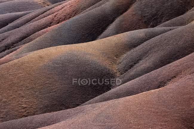 Деталь геологического образования Семи цветных Земель Шамарала, Маврикий, Африка — стоковое фото