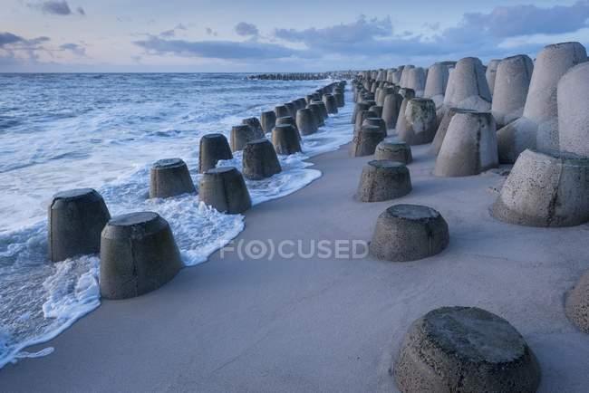 Felsschutz der Küste in Hornum, Nordseeinsel Sylt, Nordfriesische Inseln, Schleswig-Holstein, Deutschland, Europa — Stockfoto