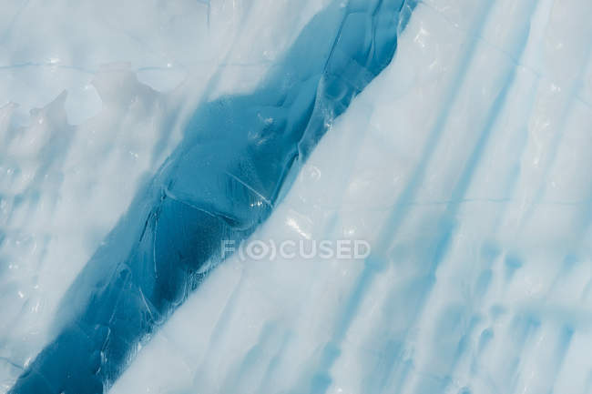 Iceberg detail and blue ice, close-up — Stock Photo