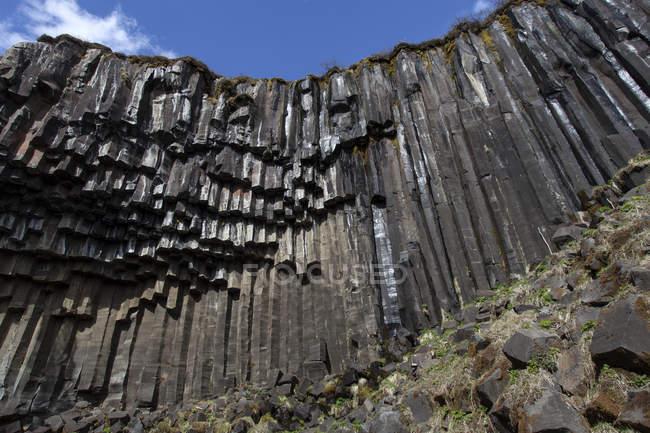 Basalt columns in Skaftafell National Park, Iceland, Europe — Stock Photo