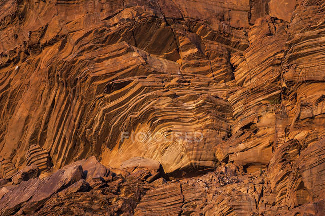 Rock formation structure of Twyfelfontein, Namibia, Africa — Stock Photo