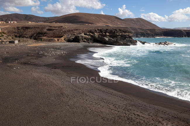 Plage Playa de Los Muertos à Ajuy, Fuerteventura, Iles Canaries, Espagne, Europe — Photo de stock