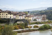Cityscape of northern italian village, Belluno, Italy — Fotografia de Stock