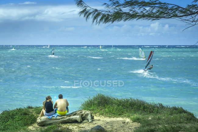 Vista della costa e del mare — Foto stock