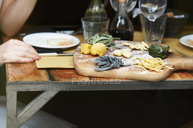 Food on cafe table — Stock Photo