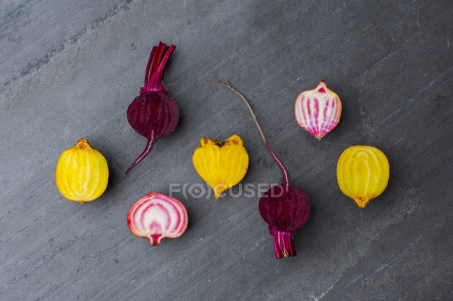 Sliced beetroot and turnips — Stock Photo