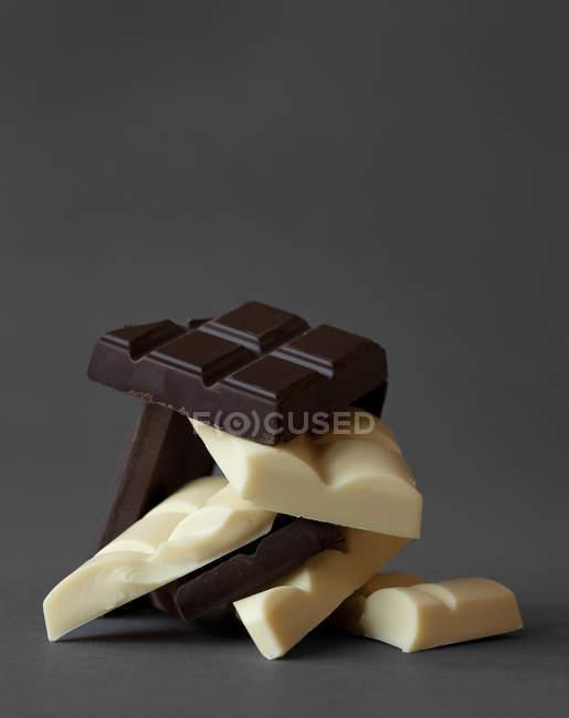 Chocolat blanc et au lait — Photo de stock