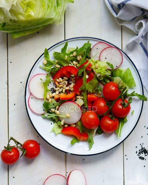 Овощная смесь на плите — стоковое фото