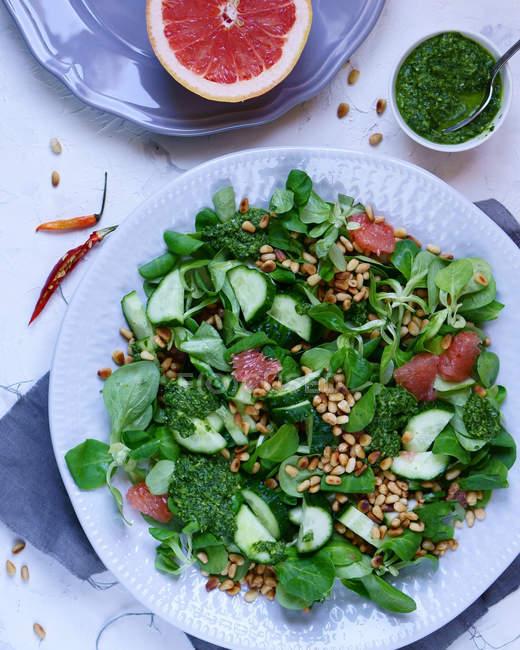 Mistura de vegetal no prato — Photo de stock