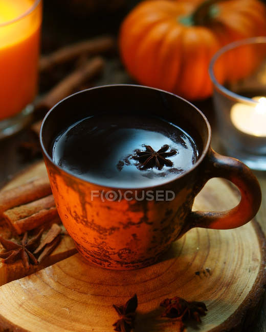 Cup of hot drink — Stock Photo