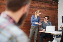 Female and male designers — Stock Photo