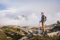 Туристы на Маунт-Бейкер — стоковое фото