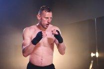 Boxtraining im Fitnessstudio — Stockfoto