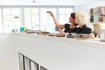 Two female designers — Stock Photo