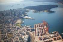 Elevated view of harbour — Stock Photo