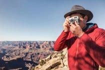 Fotografia turistica maschile — Foto stock