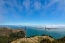 Fog blankets San Francisco — Stock Photo