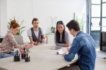 Colleagues in business meeting — Stock Photo