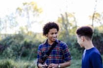 Two male friends — Stock Photo