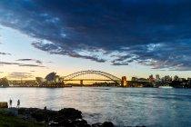 Opera House and Sydney Harbour Bridge — Stock Photo