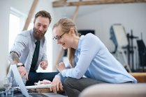 Male and female designers — Stock Photo