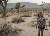 Young woman in National Park — Stock Photo